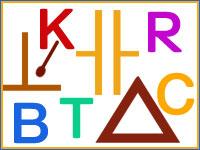 Buchstaben und Zeichen